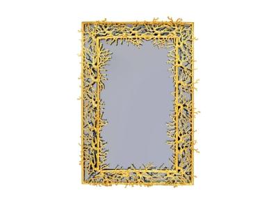Robert Goossens, Miroir bleu et bronze doré, 1969