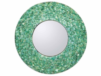 KAM TIN, Mirror covered with Emeralds, 2016