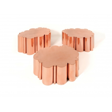 KAM TIN, Cloud tables in polished Copper