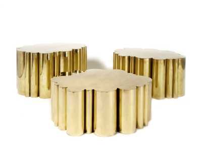 KAM TIN - Cloud Tables in polished Brass - 2012