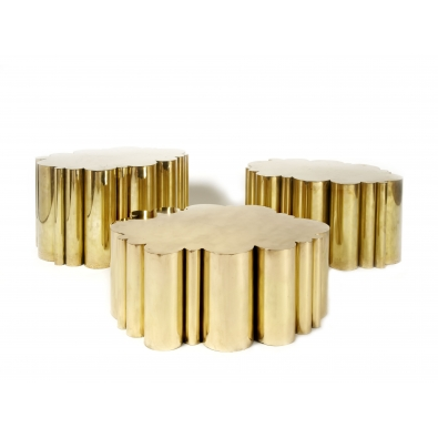KAM TIN, Cloud Tables in polished Brass, 2012