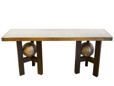 Etienne allemeersch 1926 2002 maison rapin for 70 inch console table