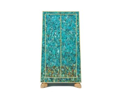 KAM TIN | Turquoise Trapezium Cabinet