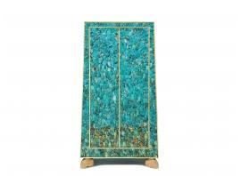 KAM TIN, Cabinet Trapézoïdal en Turquoise