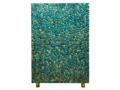 KAM TIN - Cabinet en turquoise - 2016
