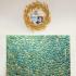ROBERT GOOSSENS, Miroir sorcière gerbes de blé, 50 cm