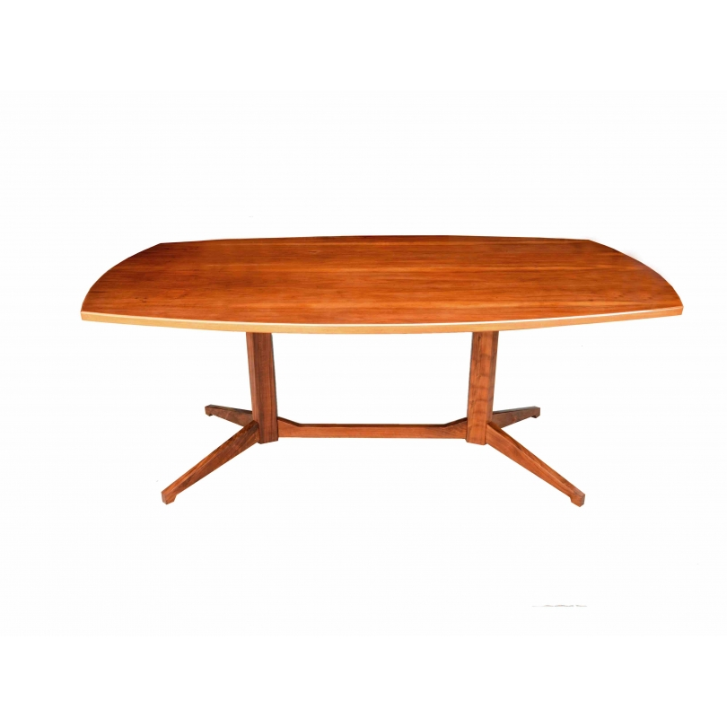 Franco albini table de salle manger tl22 maison rapin for Table salle a manger triangulaire