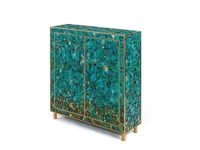 KAM TIN, Cabinet bas en Turquoise