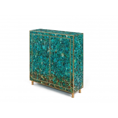 KAM TIN, Low Turquoise Cabinet