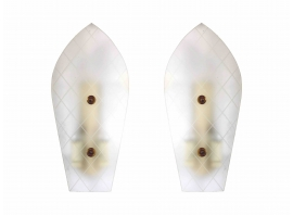 Piero Chiesa - Paire of wall lights in glass