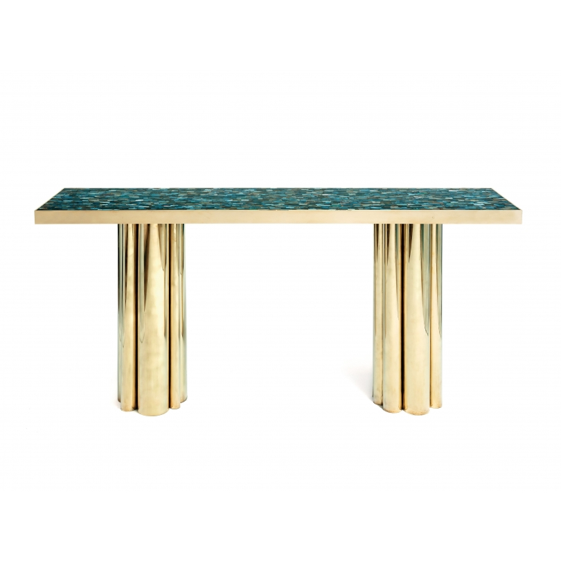 Kam Tin Agate Console Table